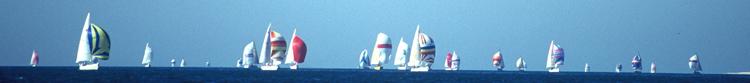 Regatta vorne weg segeln